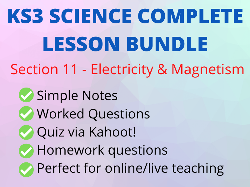 KS3 Electricity & Magnetism - Perfect Online/Live Lesson  incl Kahoot!