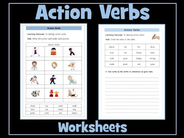 Action Verbs Worksheets Teaching Resources
