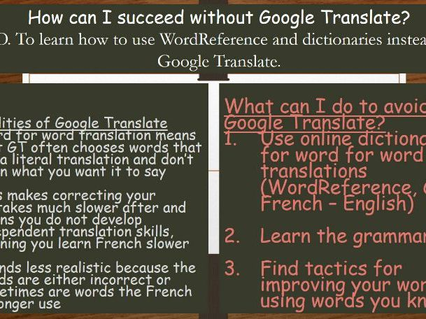 How can I succeed without Google Translate?