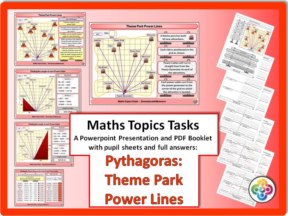 Pythagoras: Theme Park Power Lines Task