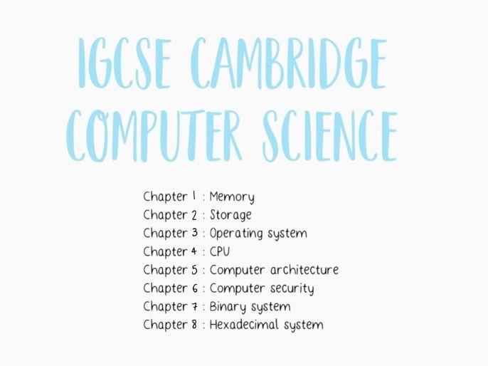 IGCSE Cambridge Computer Science
