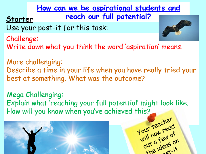 Aspiration Tutor Time / PSHE