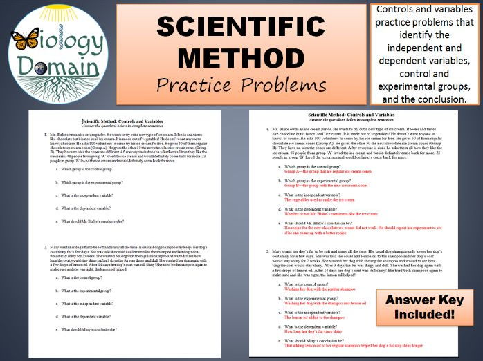 Scientific Method Controls and Variables