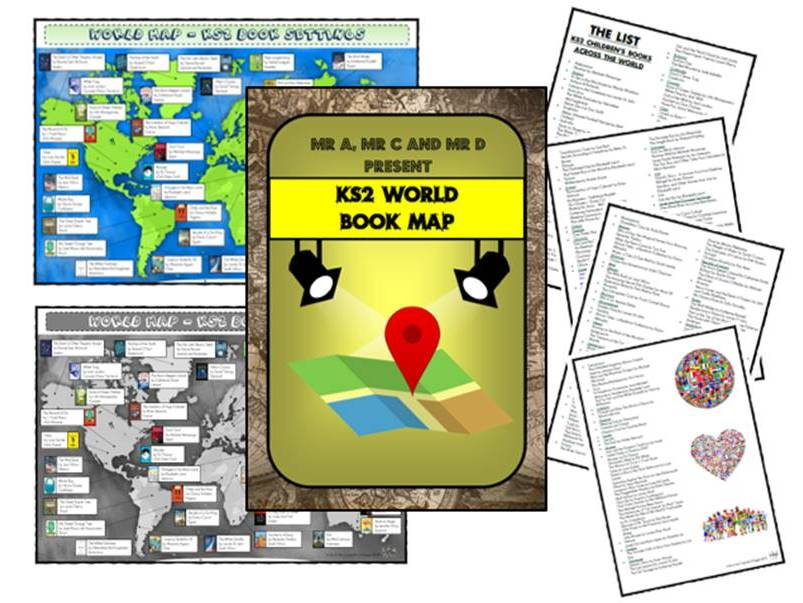 FREE - World Book Map (KS2) by Mr A, Mr C and Mr D Present