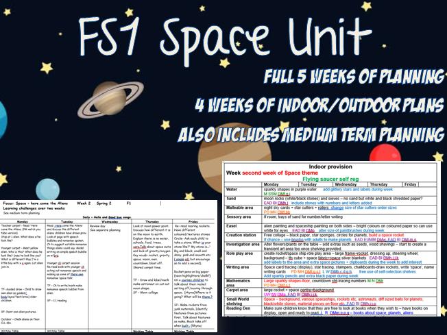 FS1 5 Week SPACE Unit for Nursery