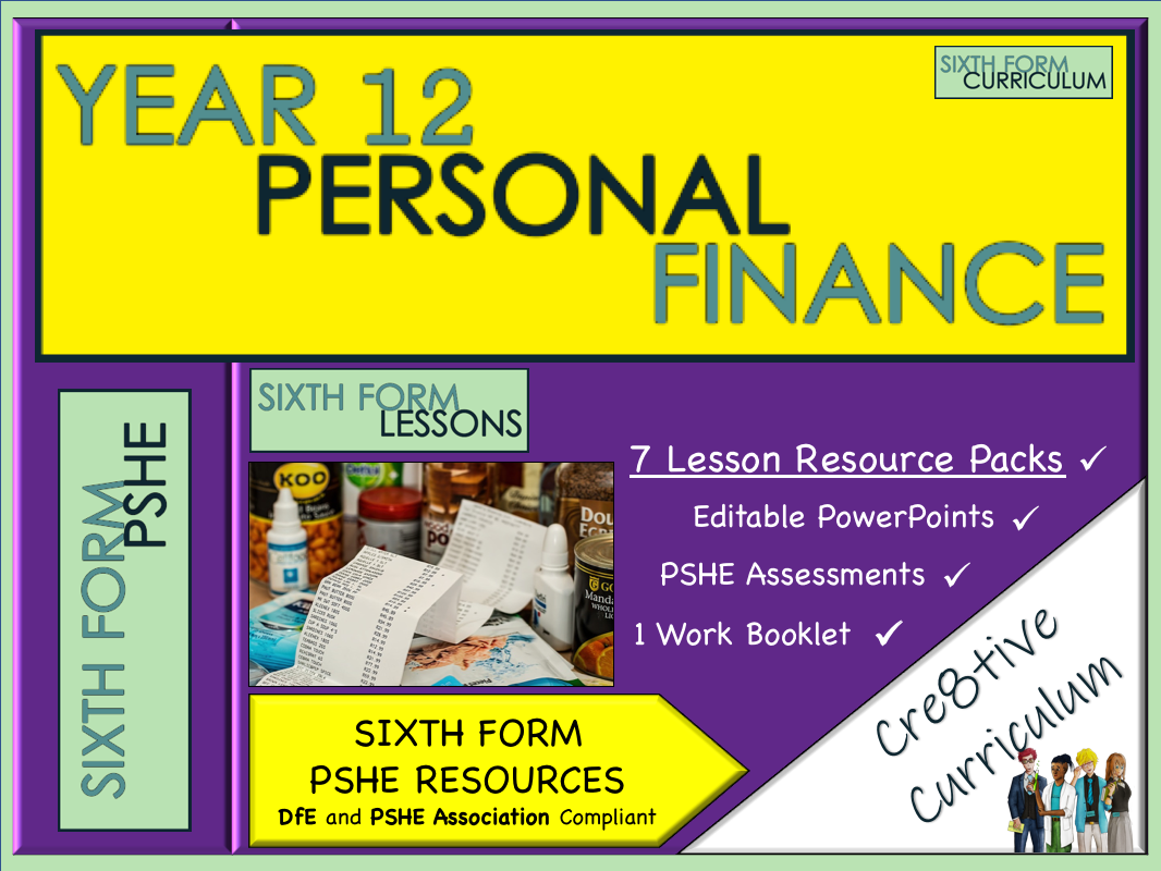 KS5 PSHE Lessons Personal Finance Unit