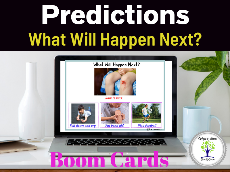 Predictions-What will happen next? Boom Cards for ABA and Speech.