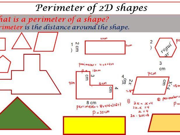 Perimeter of 2D shapes