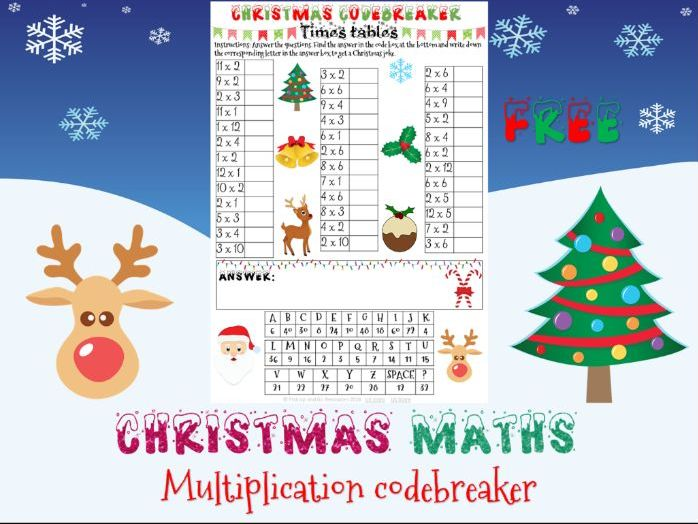 Christmas maths: Multiplication codebreaker