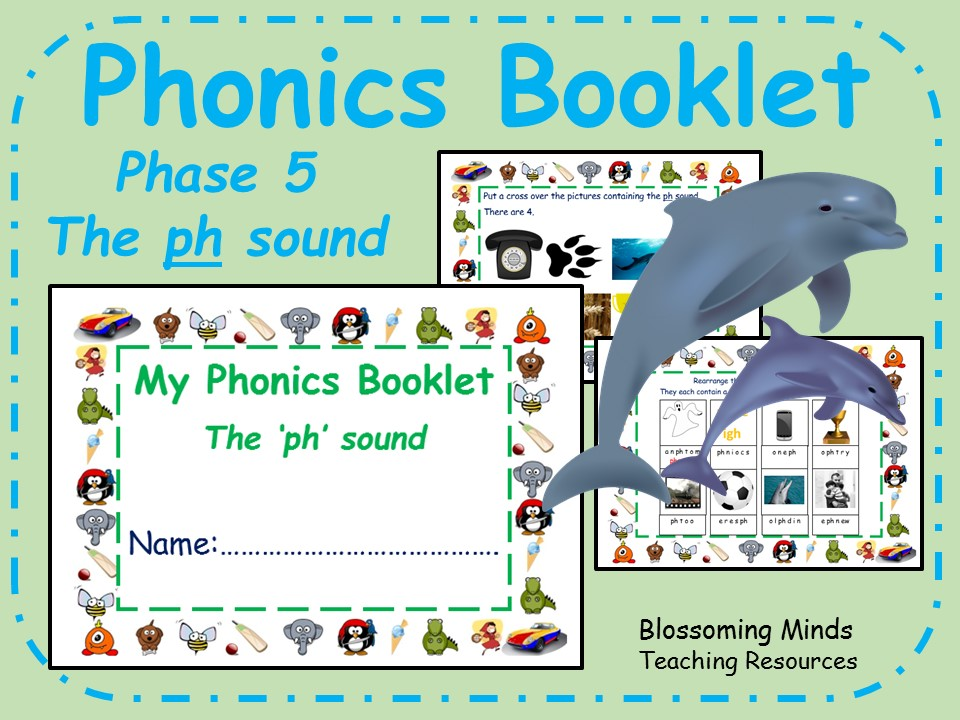 Phonics phase 5 activity booklet - The 'ph' sound