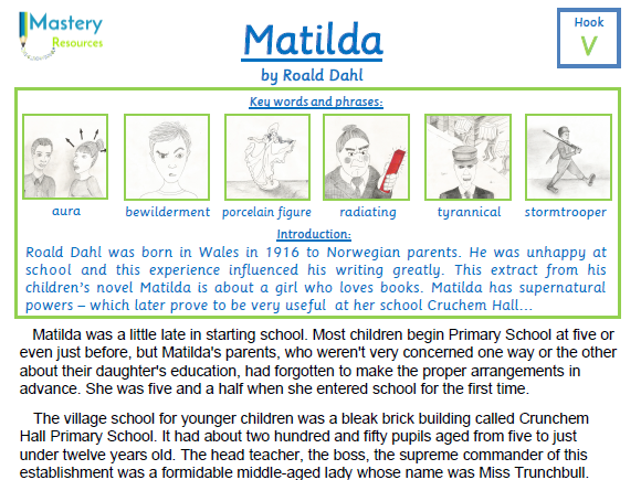 Guided Reading Support For Matilda By Roald Dahl By Badgerlearning