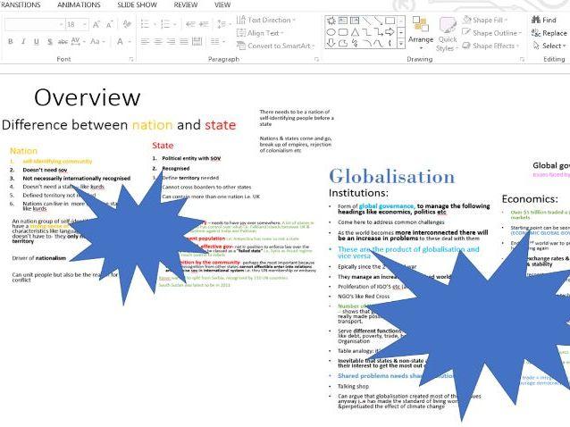 The State & Globalisation - politics