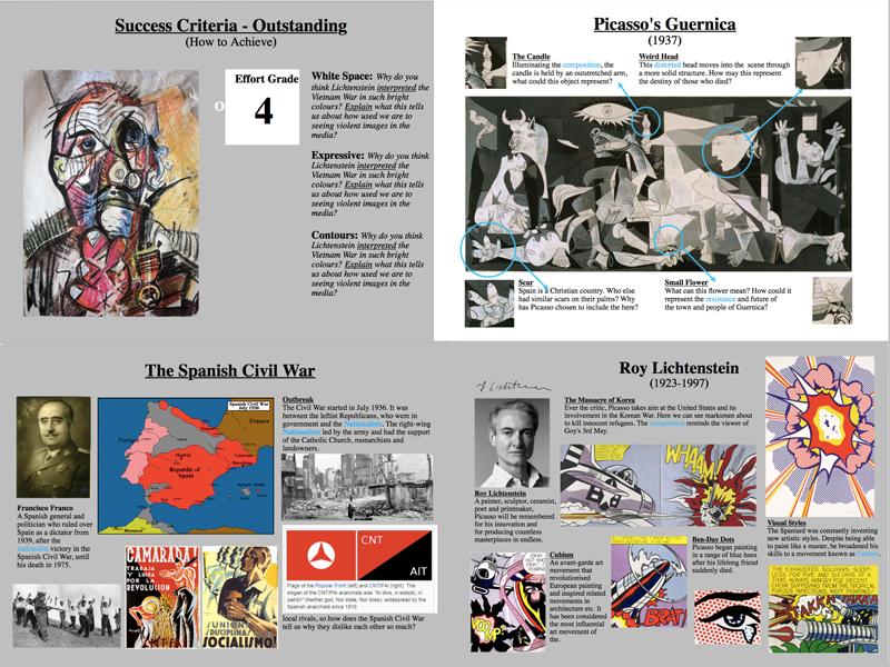 KS3/4 Conflict in Art - Pop art & Cubism Scheme of Work