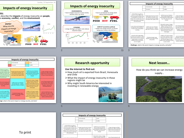 Global impacts of energy insecurity