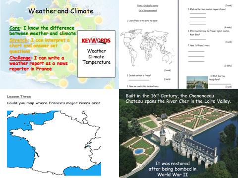 France - Country Study - KS3 Geography full scheme of work