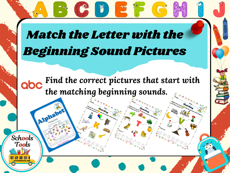 Match the Letter with the Beginning Sound Pictures