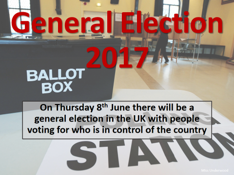 General Election 2017 UK PowerPoint for use in a lesson or tutor form time voting