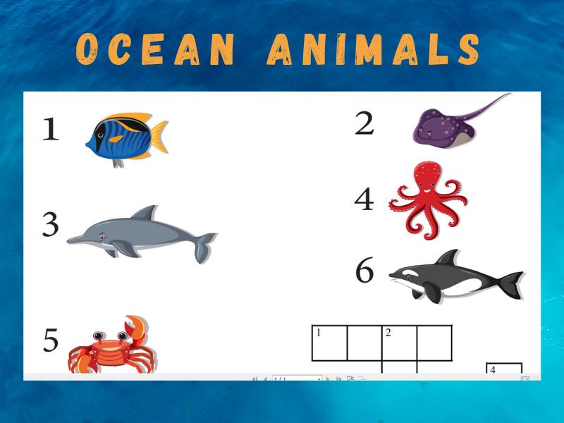 Crosswords: OCEAN