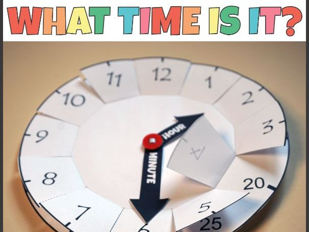 Foldable Clock Telling Time Activity