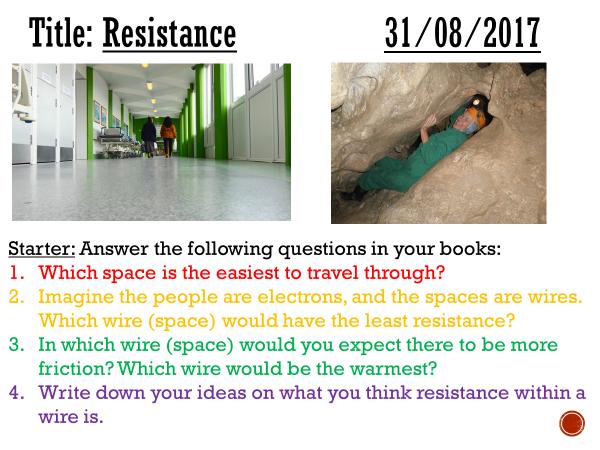 Resistance - complete lesson (KS3)