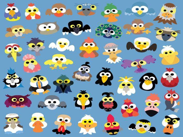 Printable Bird Masks