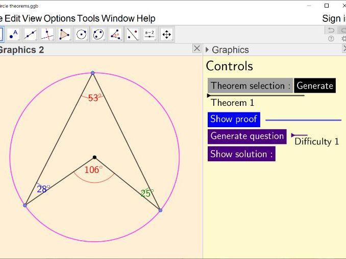 Angles in circles (circle theorems)