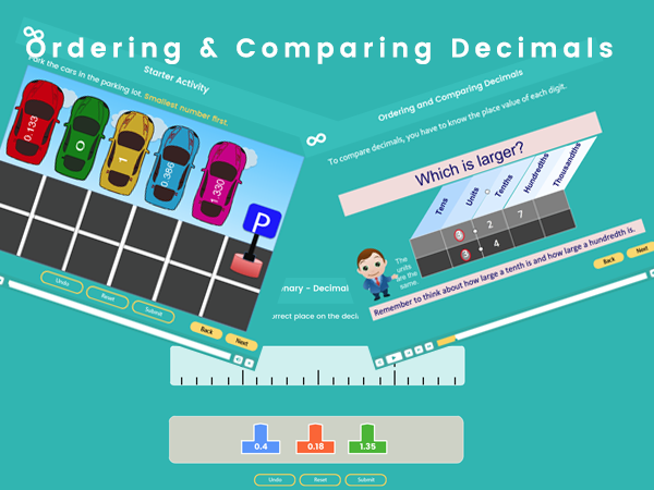Ordering and Comparing Decimals - Year 5-6 (US 4th and 5th grades)