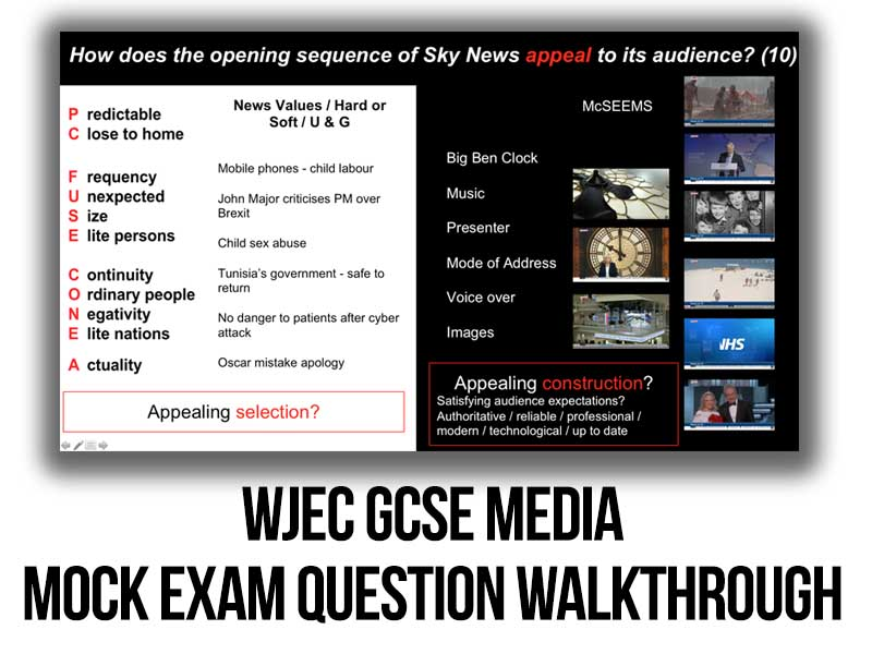 WJEC GCSE Media - TV News - Mock Exam Question Walkthrough