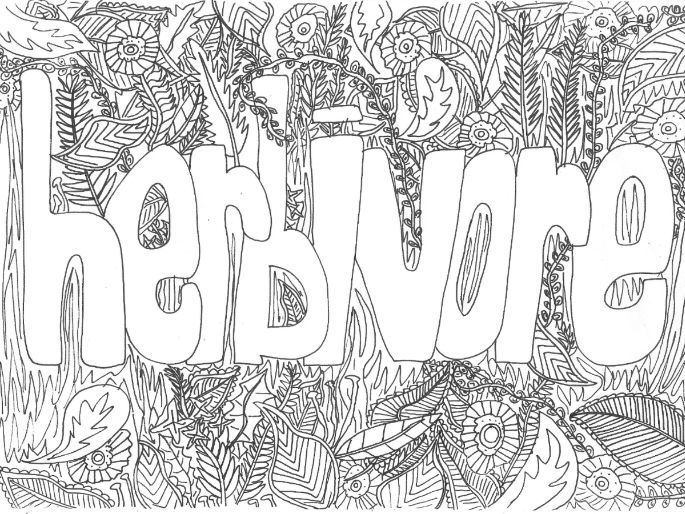 Herbivore: Colouring Page