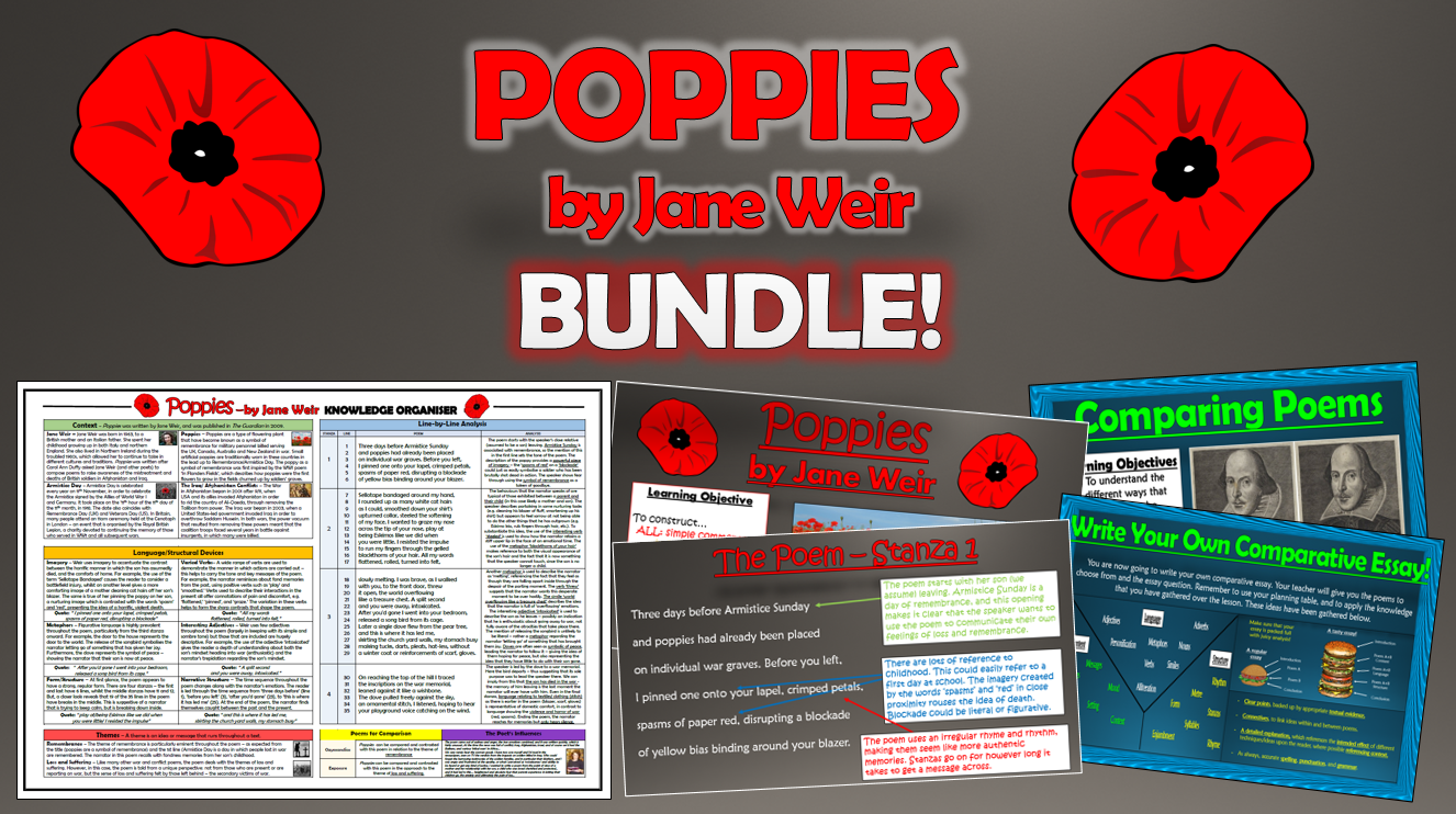 Poppies - Jane Weir - Bundle!