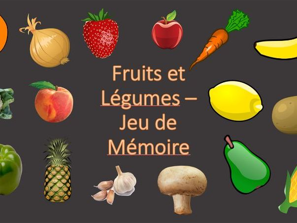 Pairs Memory Game - Fruits et Légumes