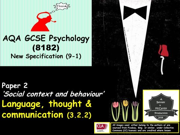 AQA GCSE New Spec: Language, Thought & Communication (9-1) Psychology (Paper 2)
