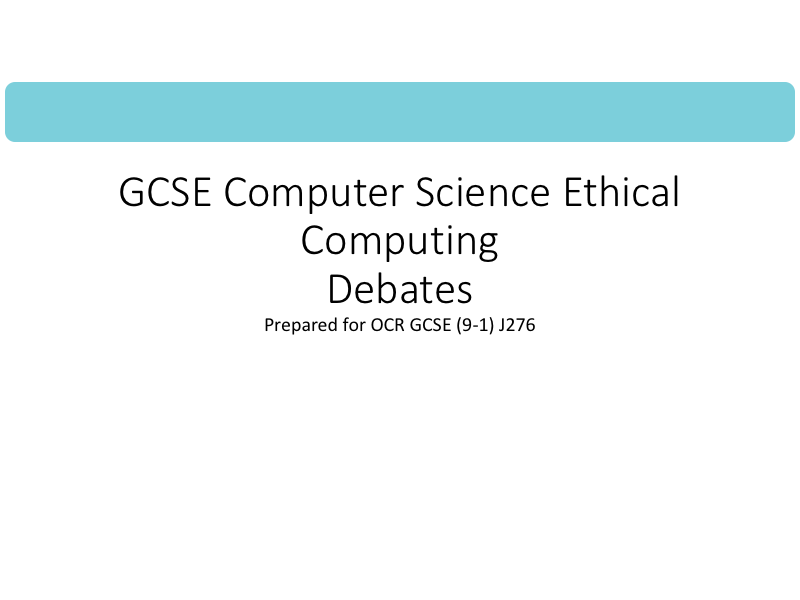 Ethical and Legal debates for Pearson Edexcel GCSE in Computer Science