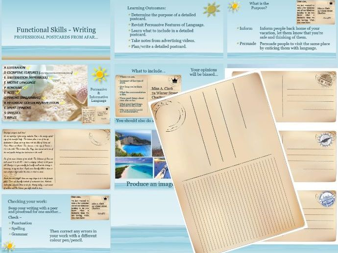 New Functional Skills English - Report Writing (Postcards)