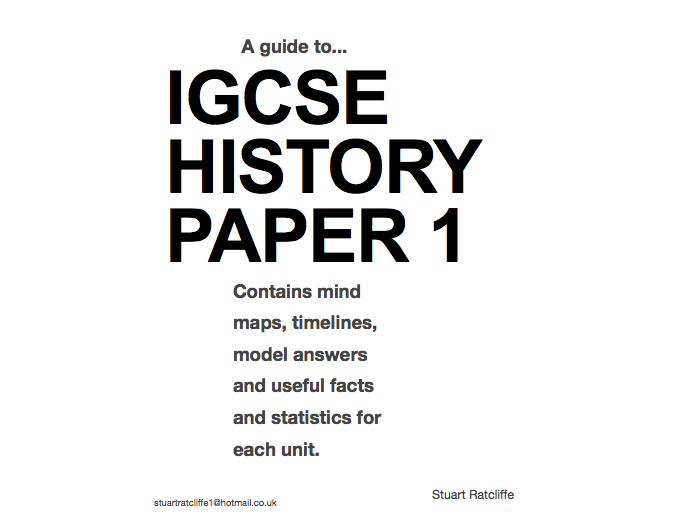 IGCSE History Paper 1 model answers and techniques