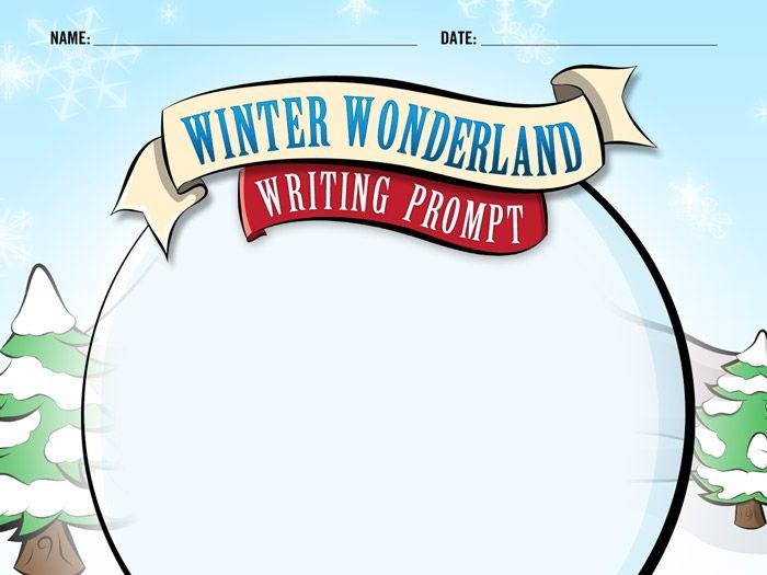 Winter Wonderland Writing Prompt - Snow Globe Story - Christmas - B&W Print Rdy