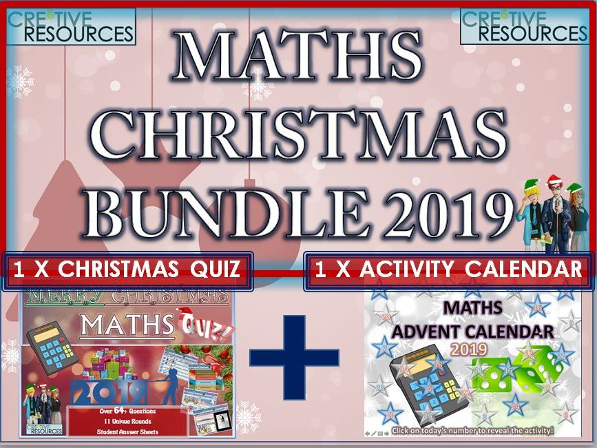 Maths Christmas 2019 Bundle