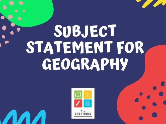 Subject Statement for Geography