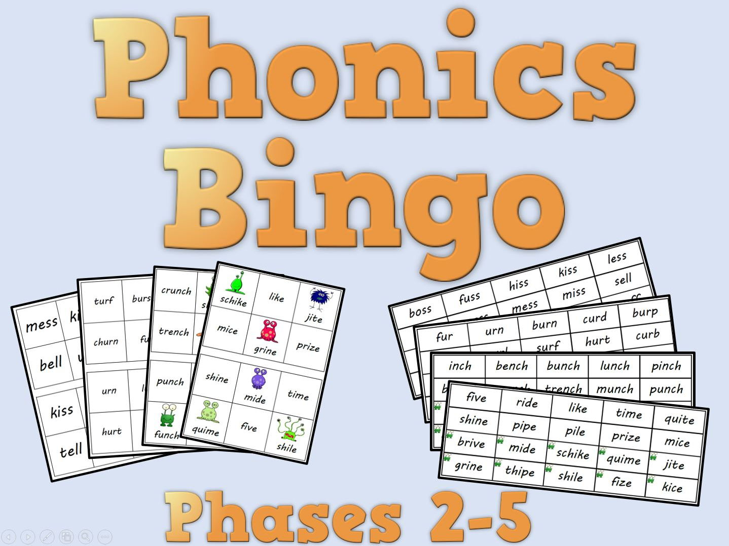phonics bingo  u2013 phases 2