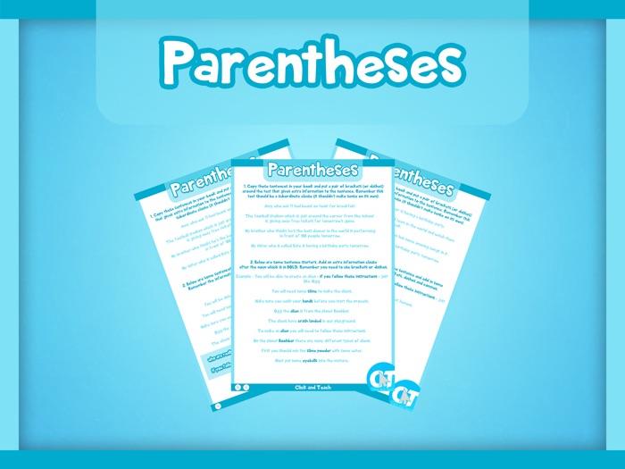 KS2 - Parentheses Activity Worksheets