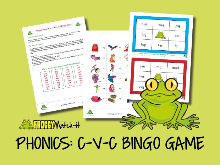 PHONICS: C-V-C BINGO GAME