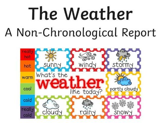 Year 1 - The Weather (Non-Chronological Report)