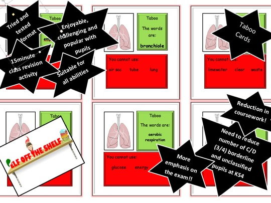 Respiration Revision KS4 Taboo Cards