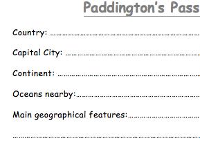 Paddington Bear's Passport