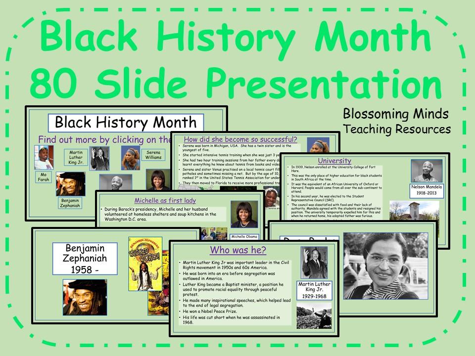 Black History Month - 80 page presentation