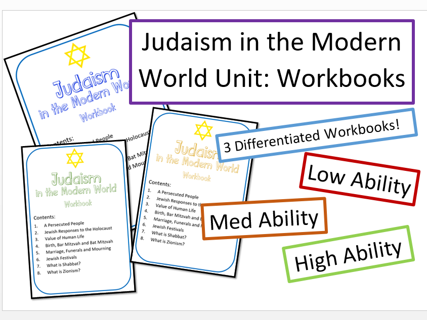 Judaism in the Modern World: Differentiated Workbooks