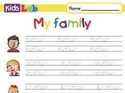 Family - Vocabulary tracing