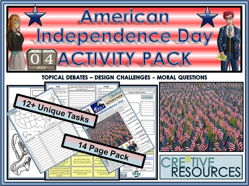 American Independence Day - Fourth of July (4th July) -  Activity Pack