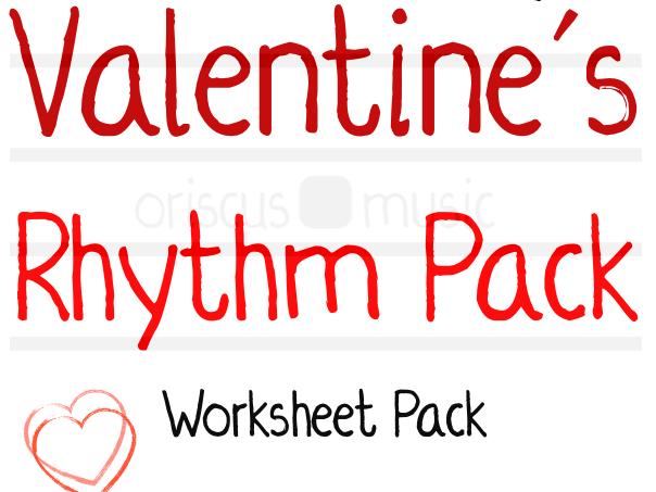 Valentine's Rhythm Worksheet Pack
