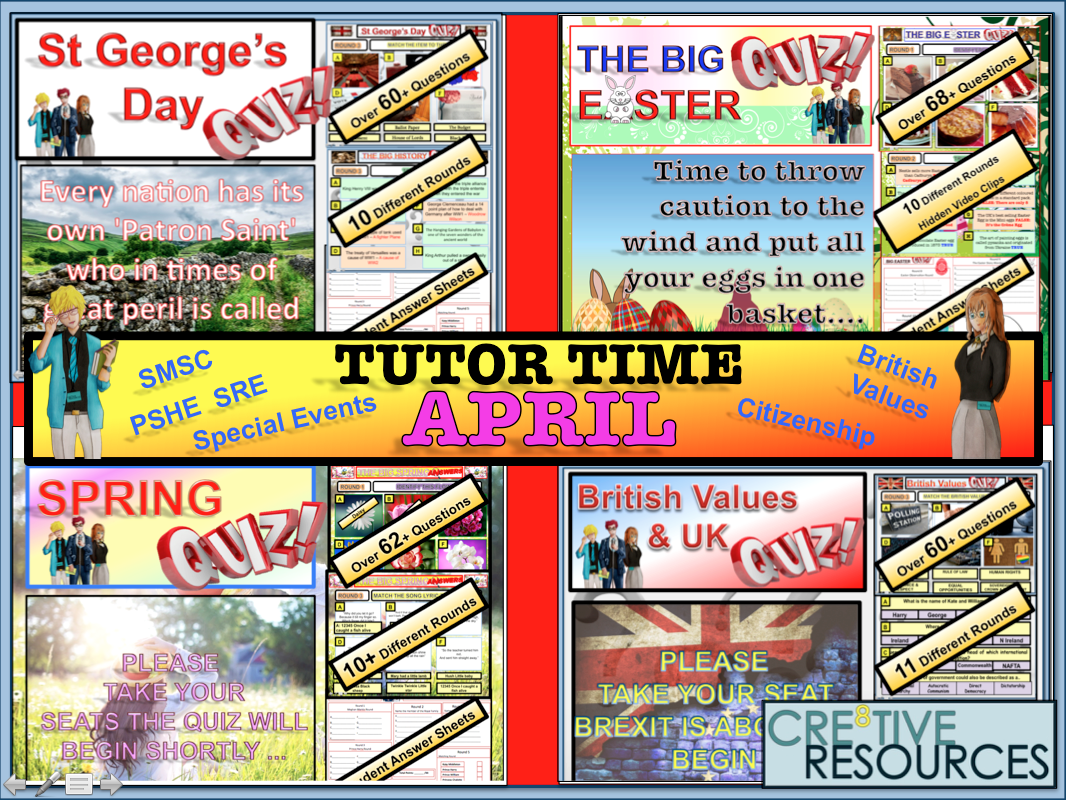 April Tutor Time 2019 Quiz Package